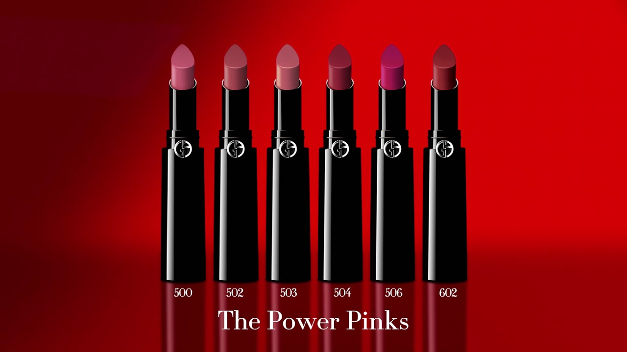 The Power Pinks - LIP POWER by Giorgio Armani - YouTube