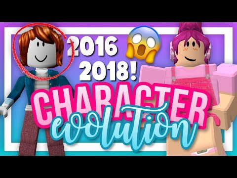 ROBLOX CHARACTER EVOLUTION 2016 - 2018 || ROBLOX