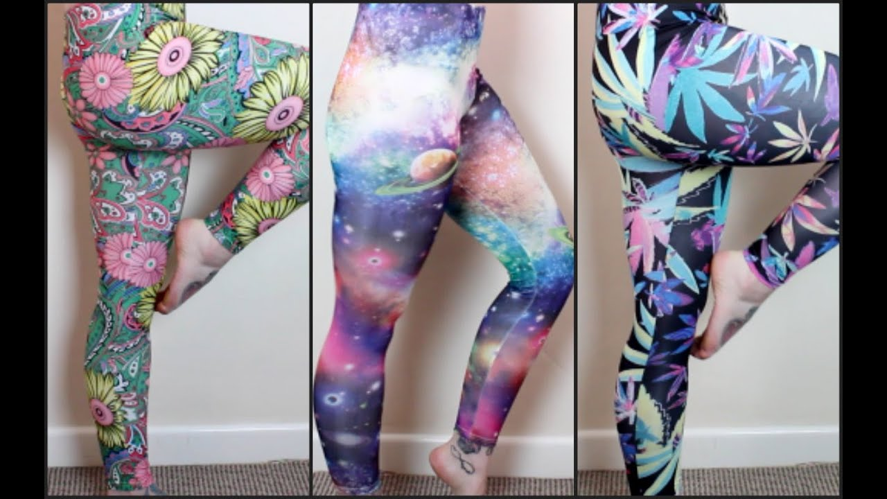 Patterned Yoga Pants Collection - YouTube