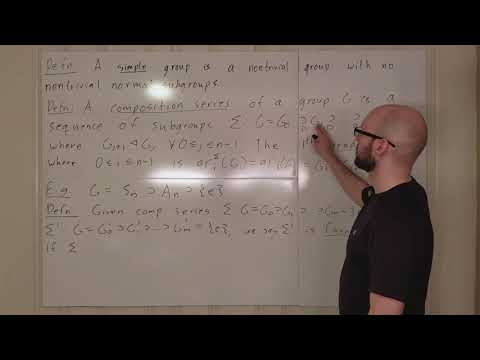 Group Lecture 9.1: Composition Series