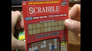 Scratching Off a $3 Scrabble Game Ticket & $2 Money Roll