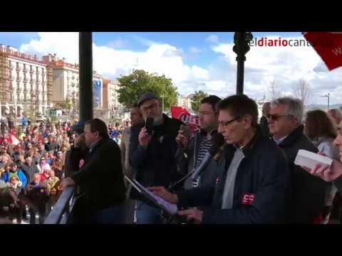 Manifestación Pensiones Santander | Declaraciones sindicatos