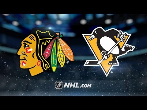 Four-goal 1st propels Hawks past Pens in Pittsburgh