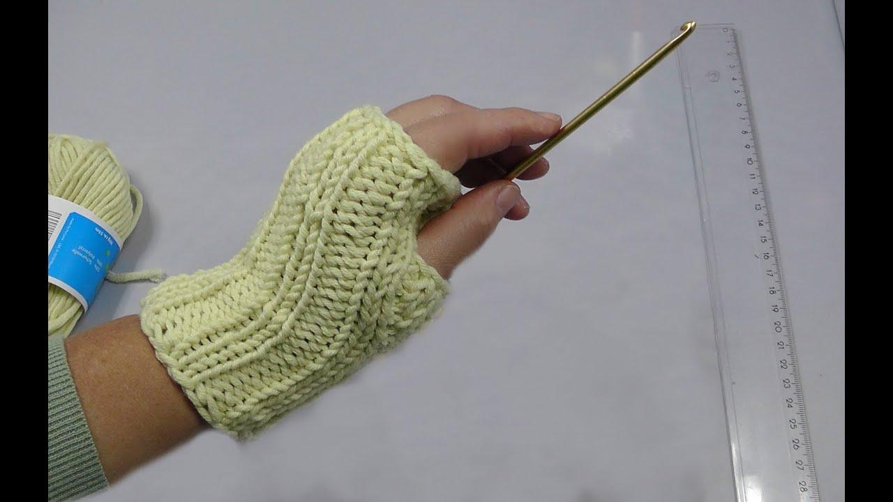 Knooking - Armstulpen oder Pulswärmer für die facebook-Gruppe ...