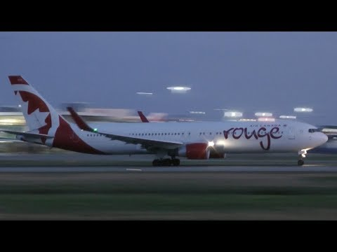 Air Canada Rouge Boeing 767-300ER Takeoff