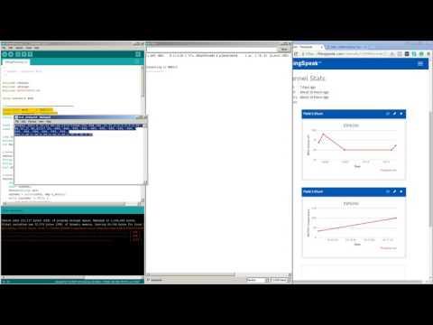 ESP8266  -  Upload Serial data to ThingSpeak