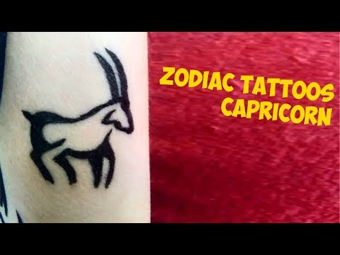Zodiac Signs Tattoos Capricorn
