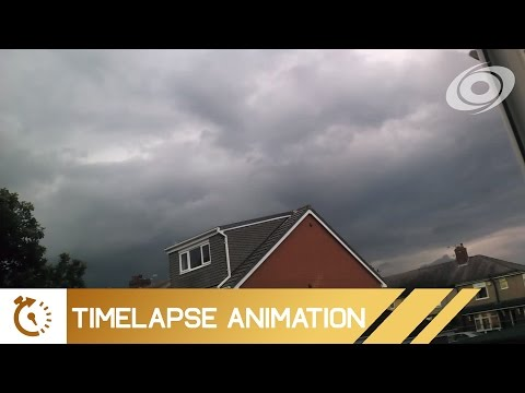 Weather Timelapse (Manchester UK) - July 21, 2016