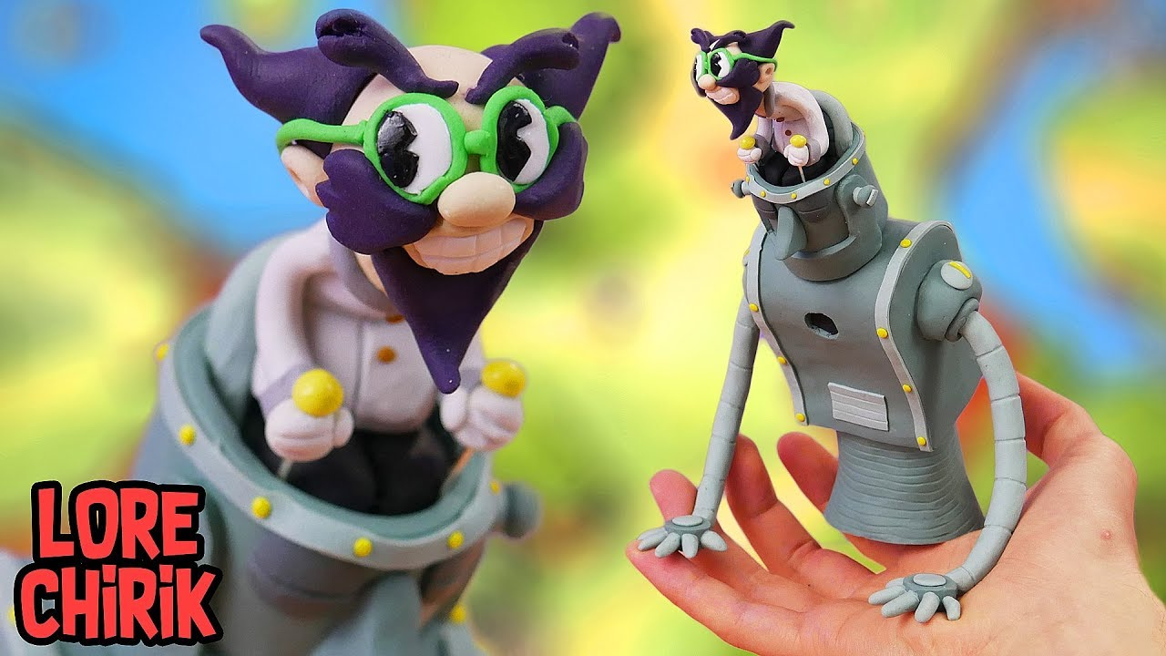 Download Making Dr. Kahl's Robot Boss from Cuphead in Polymer Clay