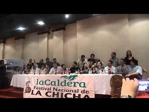 """MARCELO CAMACHO - Conferencia de prensa """"Festival Nacional de la Chicha"""""""