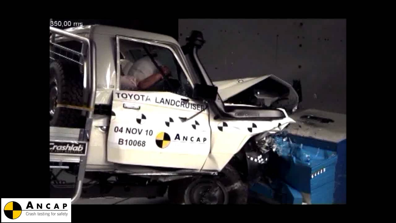 Toyota Landcruiser 70 Series 2010 ANCAP Crash Test YouTube