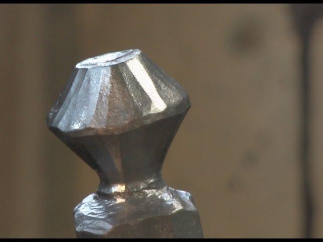 Forging tool for decorative ball  Kugel schmieden