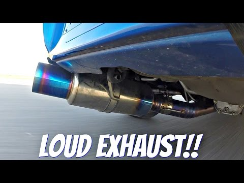 Subaru Impreza STi with Tomei Ti Titanium Exhaust LOUD Sound!