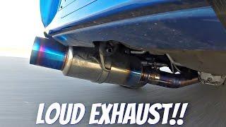 Subaru Impreza STi With Tomei Ti Titanium Exhaust LOUD Sound