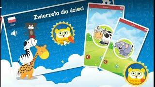 Let's Play • Odgłosy zwierząt dla dzieci • po Polsku, Nauka, edukacja, bajka, Gry dla dzieci