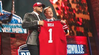 WATCH: 49ers Select DL Nick Bosa No. 2 Overall in the 2019 NFL Draft