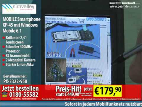 simvalley MOBILE Smartphone XP-45 mit Windows Mobile 6.1 VERTRAGSFREI