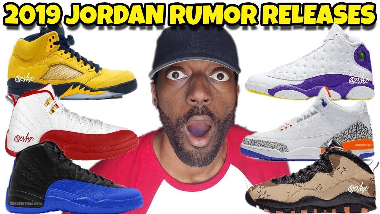 best sneakers 2118d 3f96e 2019 Jordan Releases: Jordan 5 Michigan, Jordan 12 Game Royal, Jordan 13  Laker