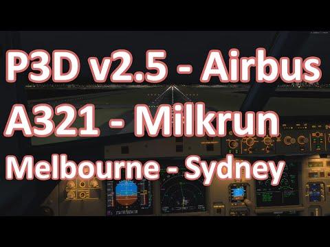 Prepar3d - A321 - Jetstar livery - Melbourne to Sydney