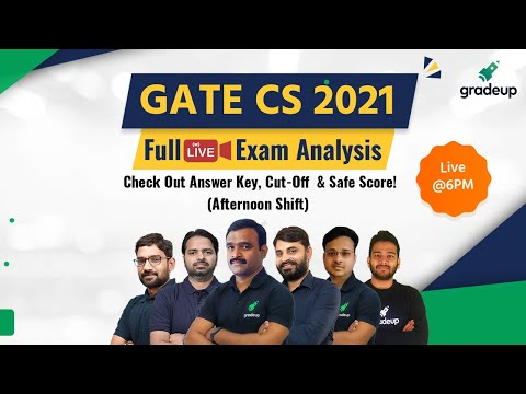 #GATE2021 CSE Full Exam Analysis & Answer Key🧑🏻‍💻 | Live 13th Feb Shift 2 | Do not Miss! | Gradeup