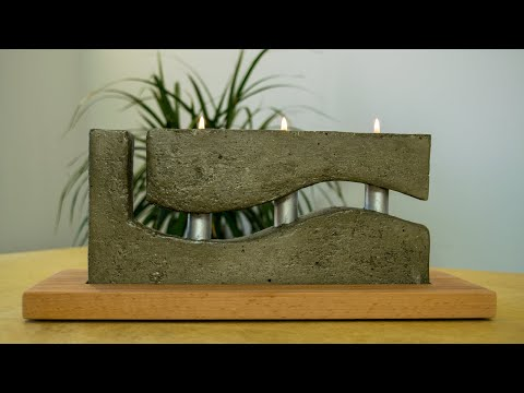 How to Make a Concrete Candle Holder with a Simple Molding Technique