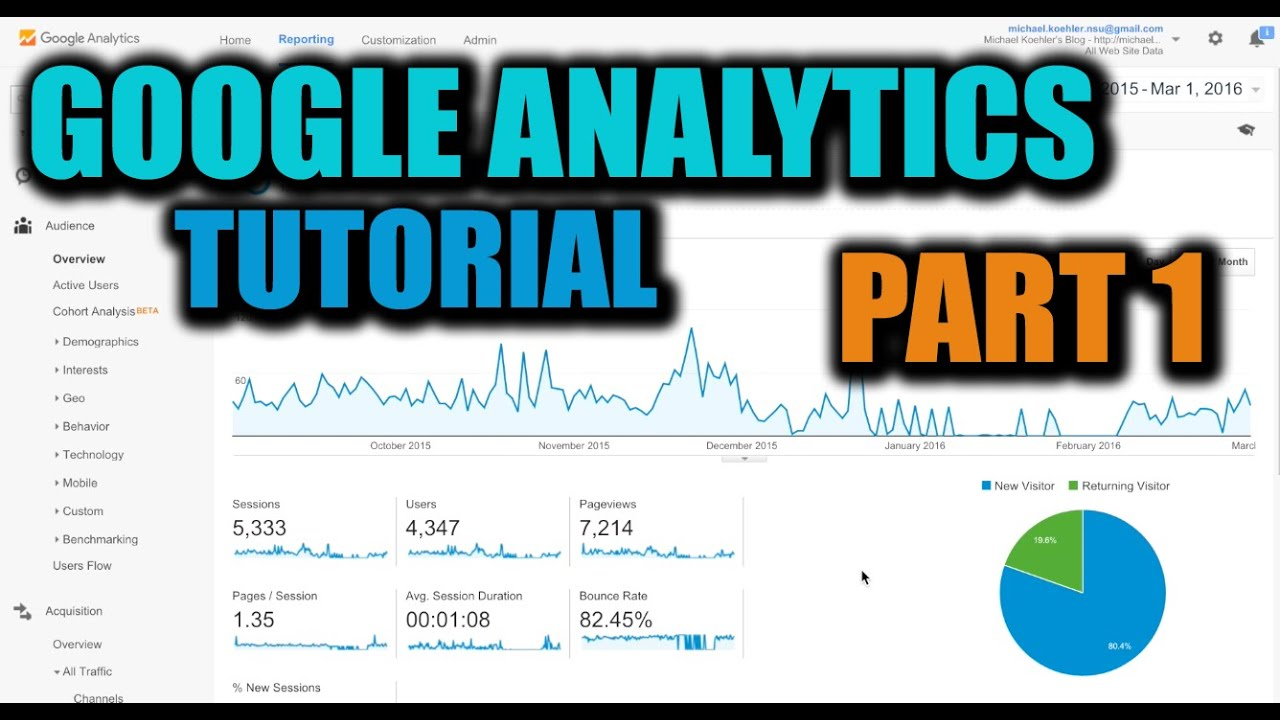 How To Use Google Analytics - How To Set Up Google Analytics - Tutorial Part 1