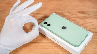Apple iPhone 12 Unboxing 64 GB Green + Setup + 5G Speed Test ASMR