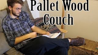 Pallet Wood Couch Idea - How To Tutorial