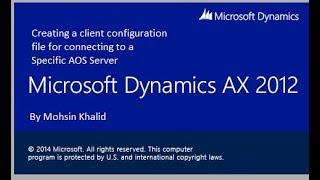 So erstellen Sie eine AX-client-Datei, um die Verbindung zu Ihrem gewünschten AOS-Server