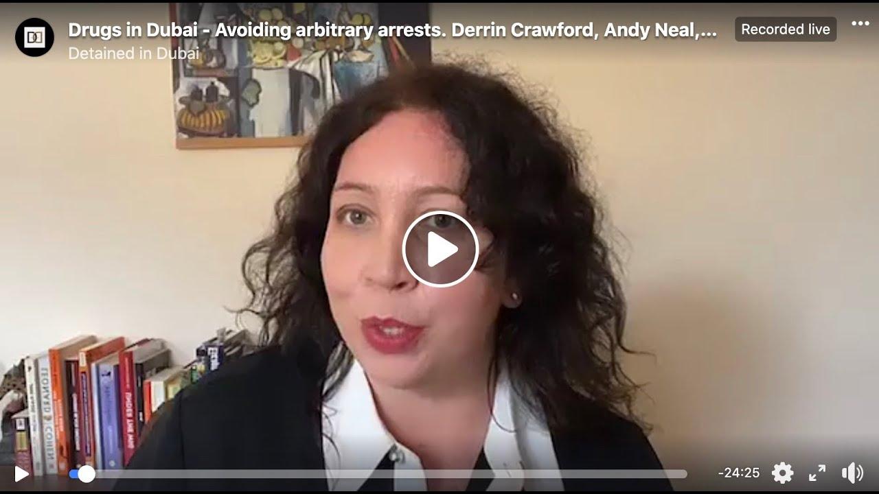 Live with Radha Stirling - Drugs in Dubai, Derrin Crawford, Perry Coppins, Andy Neal & more - YouTube