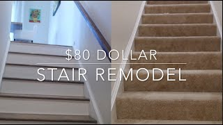 $80 Stairs Makeover | DIY