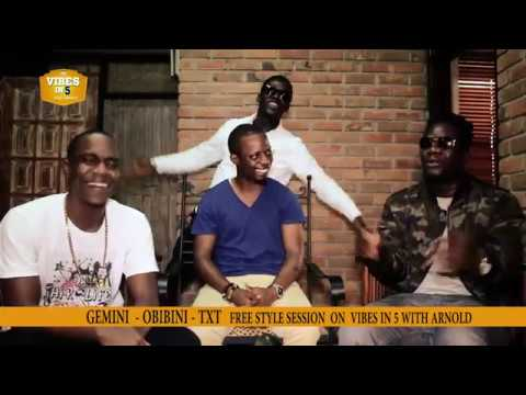 THE HOTTEST FREESTYLE SESSION EVER TO HAPPEN IN GHANA - GEMINI, OBIBINI  AND TXT