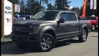 2018 Ford F-150 Leveled Lariat FX4 Sport 502A V6 Supercrew Review| Island Ford