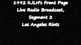 KJLH-FM and the Los Angeles Riots, Segment Two (Audio)