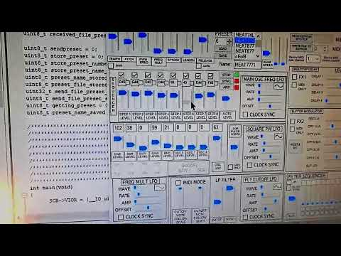 Grooves on DIY synth Tokarev Protosynth V1LP sequencer