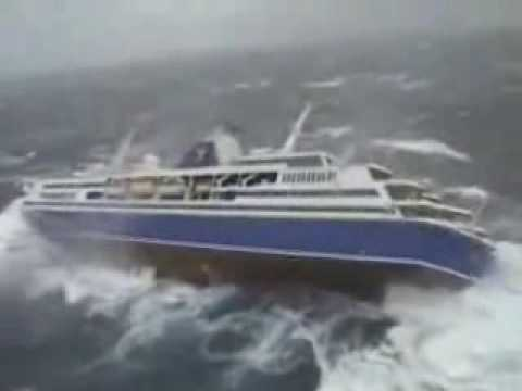 Extreme Rough Sea Cruiser Roll Motions YouTube