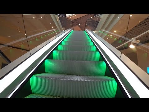 Sweden, Stockholm, Farsta Centrum, 20X escalator, 8X elevator ride