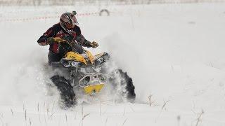 Покатушка на квадроциклах по первому снегу. ATV Snow Сan am BRP , Yamaha , CFMOTO .(Покатушка на квадроциклах по первому снегу. ATV Snow BRP Renegade , Yamaha Grizzly, CFMOTO X8 . Поездка организованна на форуме...., 2015-12-23T19:09:32.000Z)