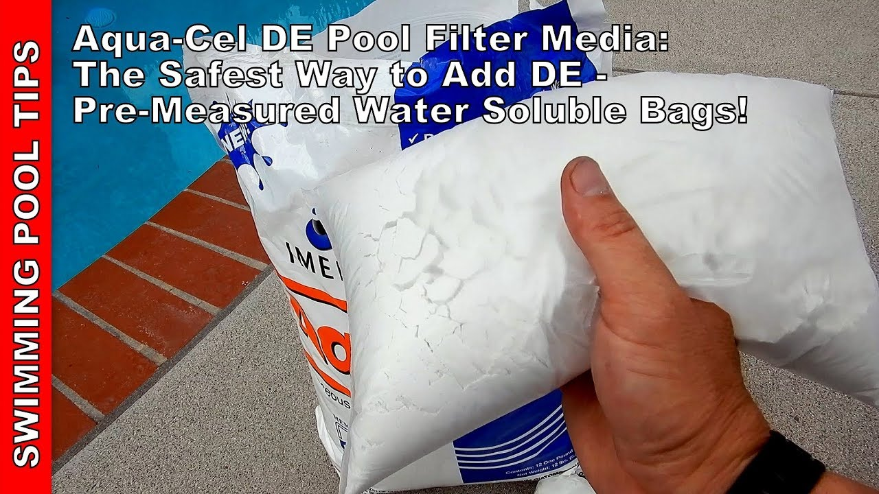 Aqua-Cel DE Pool Filter Media in Water Soluble Pouches for Dust Free  Handling: Easy and Safe!