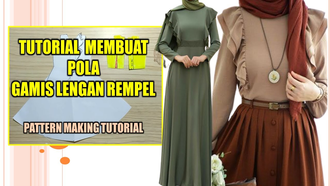 SEWING PATTERN GAMIS SLEEVE DRAPERY ~ PATTERN MAKING TUTORIAL