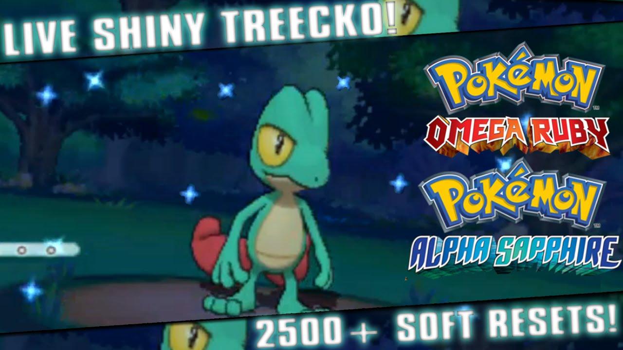 Live Shiny Treecko After 2508 Soft Resets Pokemon Omega