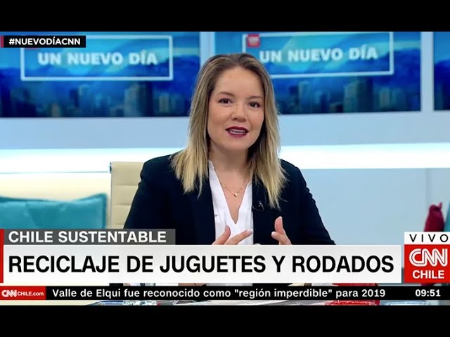 Cata Droguett CNN - Juguetes reciclados y rodados