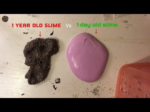 1 Year Old Slime V.s 1 Day Old Slime!! *fixing The Old Slime!*