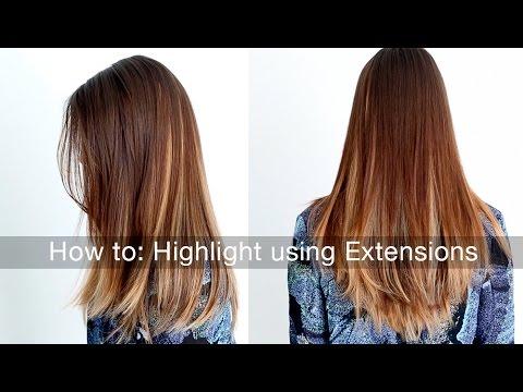 How to highlight lowlight your hair using hair extensions youtube how to highlight lowlight your hair using hair extensions pmusecretfo Choice Image
