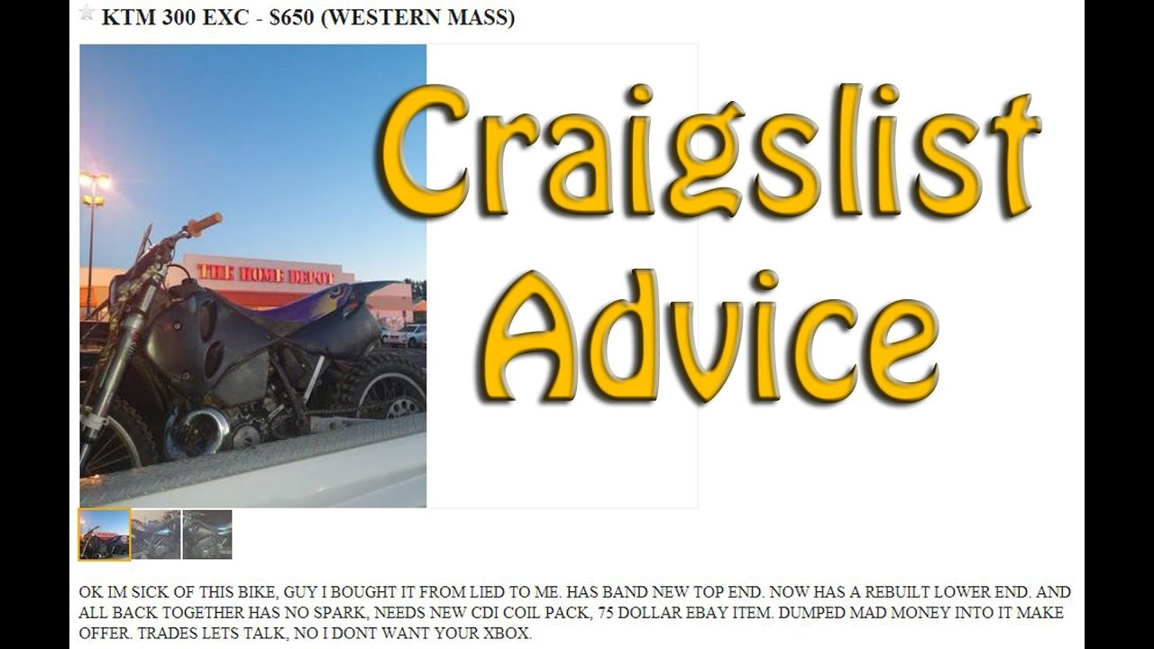 Criagslist Advice