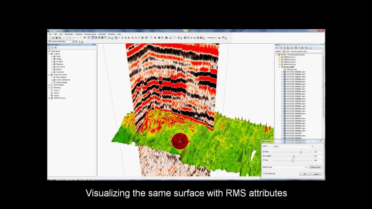 Seismic data in an ArcGIS window — Hoolock Consulting