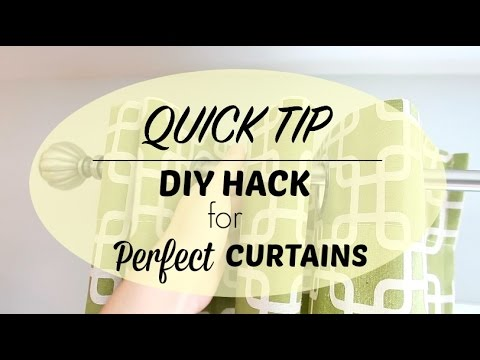 Quick Tip | NO COST DIY Perfect Curtain Hack