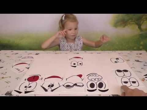 019 Учим эмоции Смешные рожицы Netyasama Развивающие игры для детей