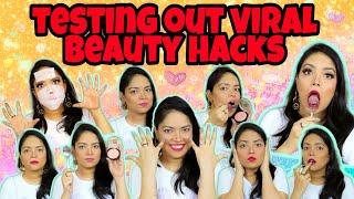 Testing Out *Viral* WEIRD Beauty & Makeup Hacks   Do They Really Work?   Anku Sharma