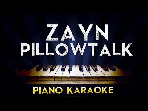 ZAYN - PILLOWTALK  Lower Key Piano Karaoke Instrumental  Cover Sing Along